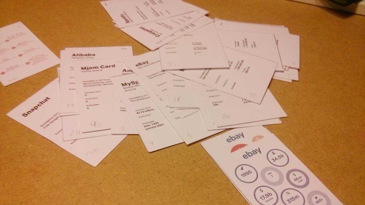 Making of MJOM Cards – Erste Papierprototypen für Web Trumps