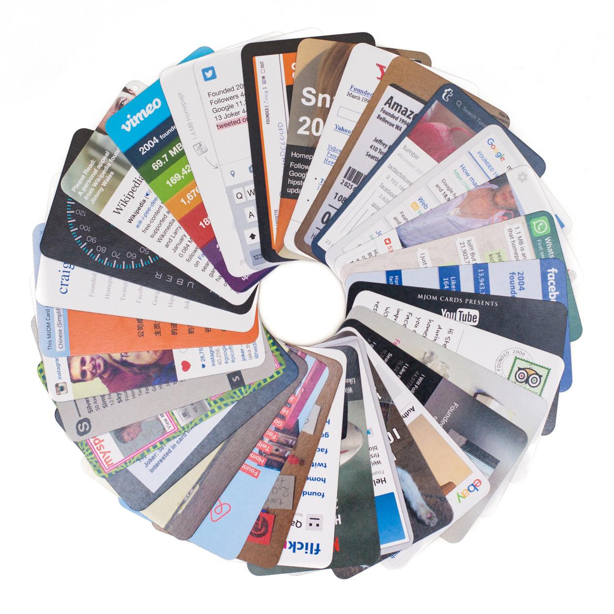 MJOM Cards Web Trumps – Design aller 32 Karte