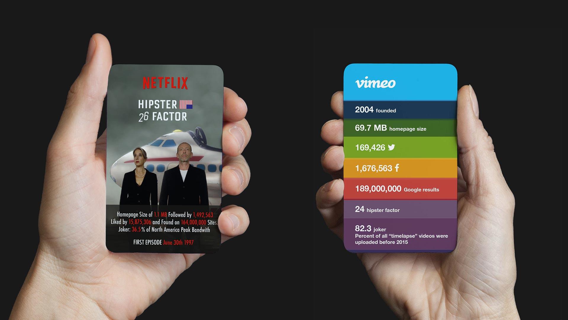 MJOM Cards Web Trumps: Netflix vs. Vimeo